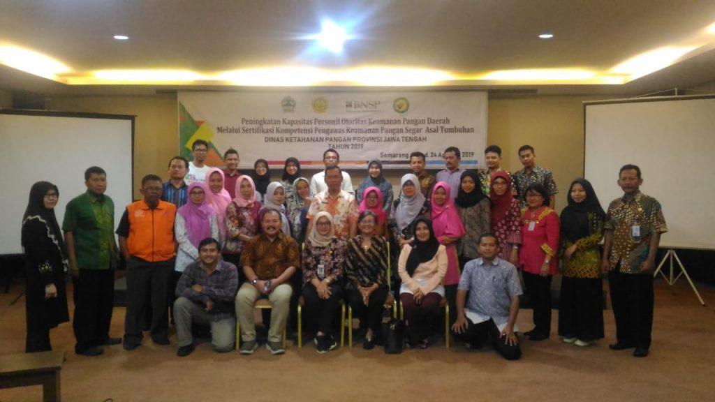 Sertifikasi Kompetensi Pengawas PSAT Provinsi Jateng Tahun 2019
